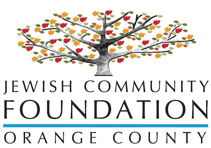 jewish community foundation orange county logo with tree leaves yellow red green