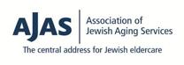 AJAS association of jewish aging services logo in all dark blue