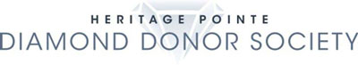 heritage pointe diamond donor society logo in grey with diamond in background