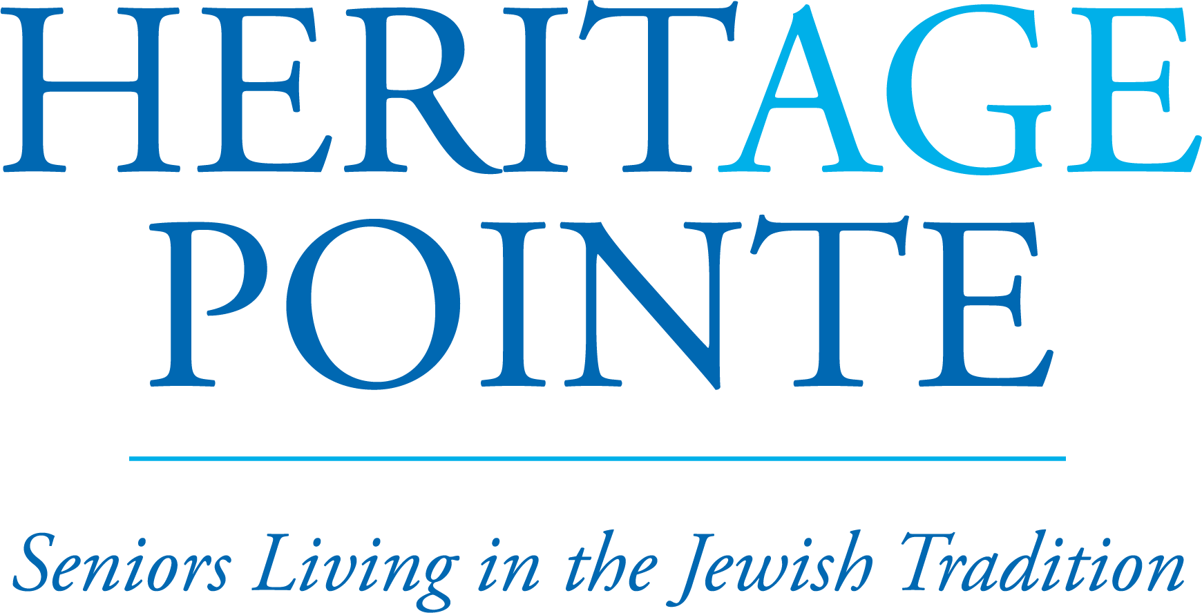 heritage pointe logo in all dark blue with age in light blue